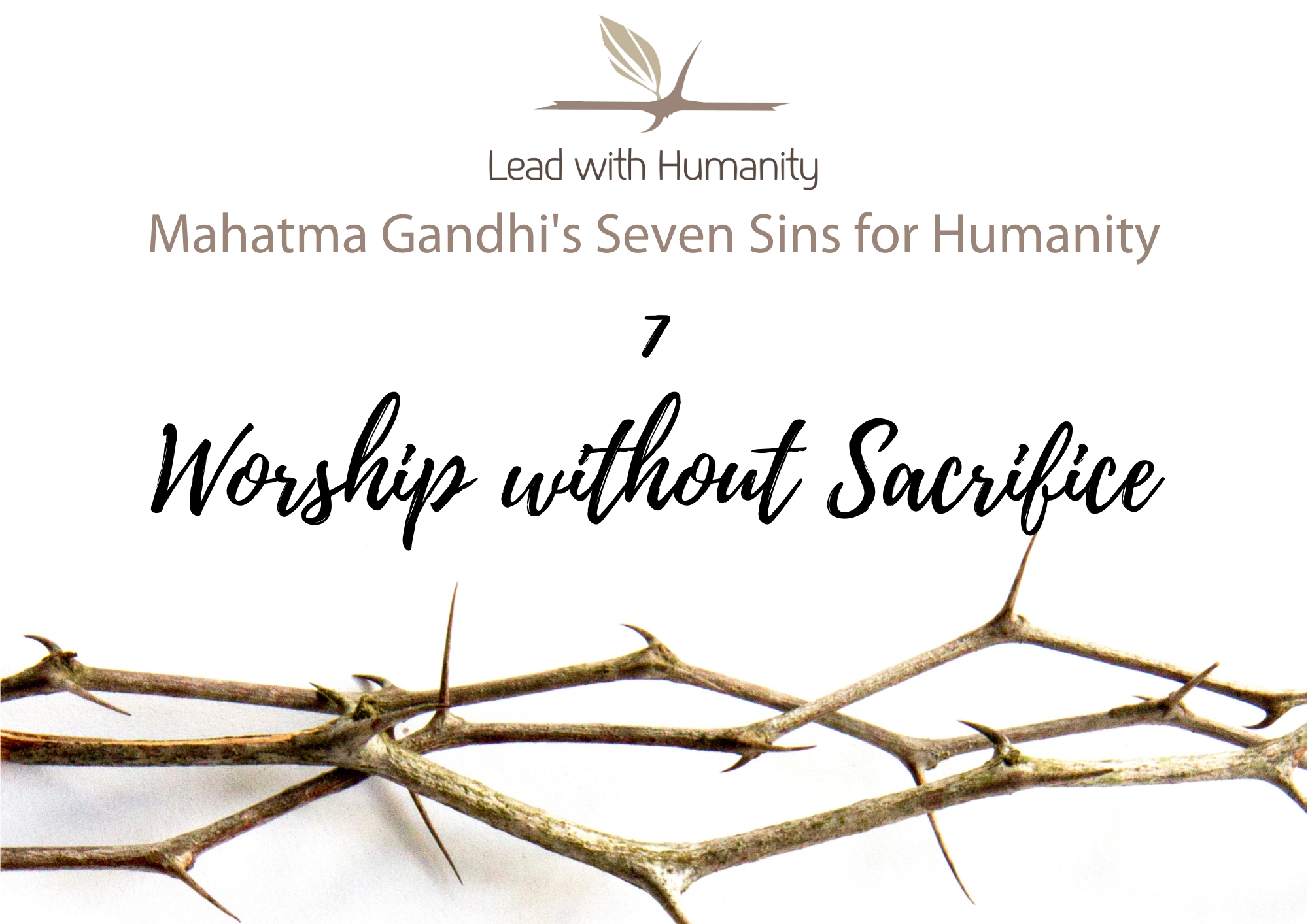 Worship without Sacrifice