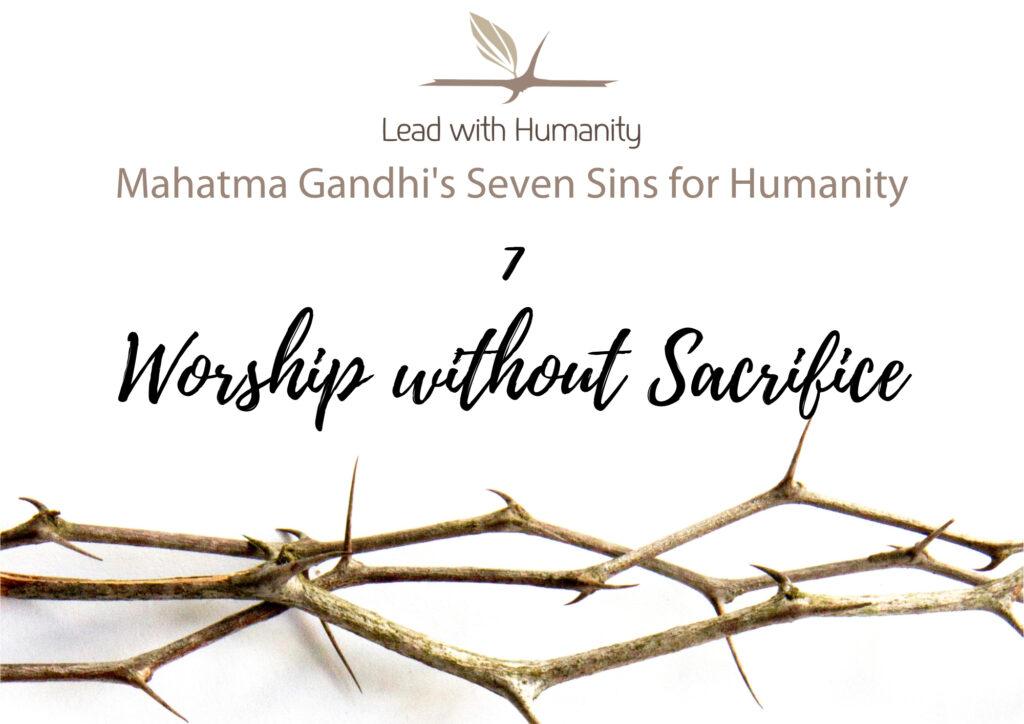 Worship without Sacrifice